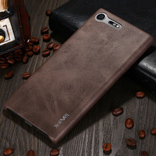 X-Level New Vintage Leather Phone Case For Sony Xperia XZ premium Ultra thin Protective Back Cover For Sony XZ premium(China)