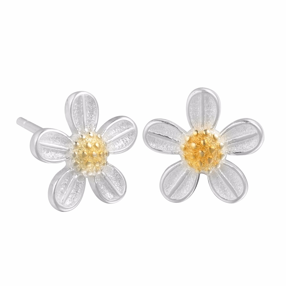 QIAMNI-925-Sterling-Silver-Elegant-Golden-Flower-Lotus-Stud-Earring-for-Women-Girls-Christmas-Handmade-Jewelry