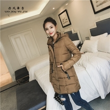 DanFengWuXue 2017 Winter Korean Loose Solid Hooded Women Parka Long Coat Thickened Tide Medium-long Warm Cotton Female Jacket Co(China)