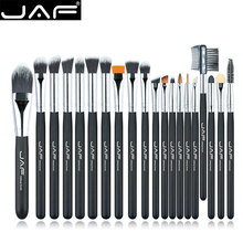 JAF Brand 20 pcs/set Makeup Brush Professional Foundation Eye Shadow Blending Cosmetics Make-up Tool 100% Vegan Synthetic Taklon(China)