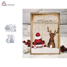 Santa Claus Deer Metal Cutting Dies Christmas Stencils For DIY Scrapbook Paper Card Decorative Craft Embossing Die Cuts New 2018(China)