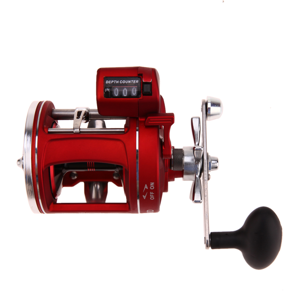 11+1BB Red Bait Casting Fishing Line Counter Trolling Reels Right Handle ACL Gear Ratio 3.8:1  Bait Wheel 700g Fast Shipping<br>