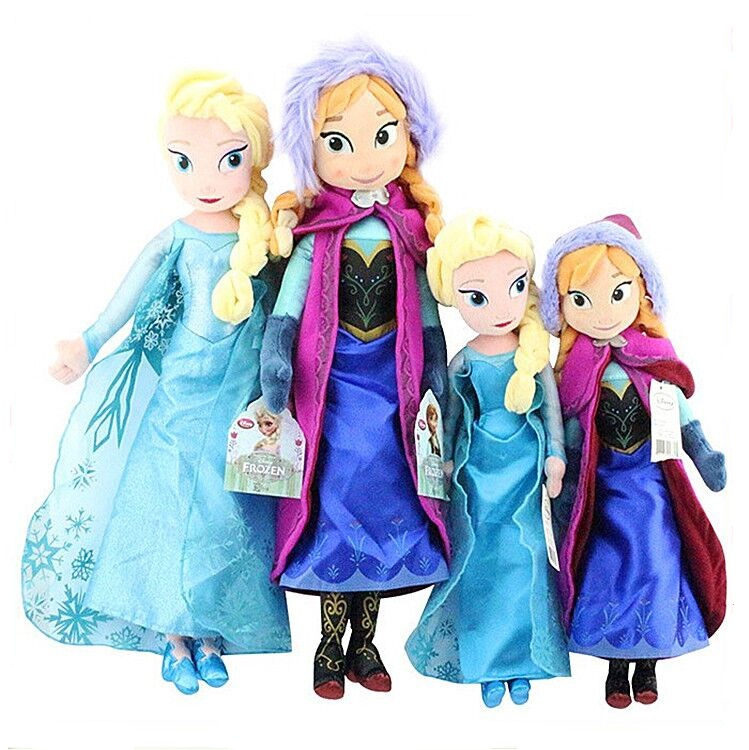 50cm Girls Toys Princess Anna and Elsa Doll Pelucia Boneca 50cm Plush Toys Disny Princesa Juguetes New 2017 Christmas gifts<br><br>Aliexpress