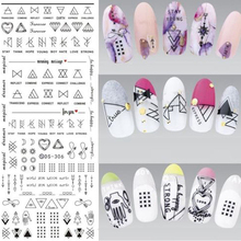 1 Set Nail Stickers 3d Nail Polish Lace Applique Japanese Nail Jewelry Ultra-thin Watermark Full Sticker Plaid  Nail Stickers