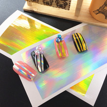 1Pcs/Pack 2017 New Arrive 3D DIY Design Laser Lines Nail Sticker Metal Alloy Nail Art Decorations Nail Decos/Charms(China)