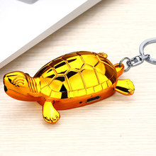 Mini Version Gold Tortoise Lighters With Red Laser USB Charge Windproof Lighter Key Ring Fashion Creative Small Gifts
