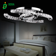 2017 Latest Fashion modern stainless steel LED ceiling light fashion brief living room ceiling lamp LED crystal light plafonnier(China)