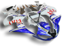 Motorcycle Fairing kit for YZFR6 03 04 05 YZF R6 2003 2004 2005 YZF600 Famous FIAT White blue Fairings set+7gifts YE14