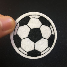 football Patch Iron On Patch Embroidered Applique Sewing Label punk biker Patches Clothes Stickers Apparel Accessories Badge(China)