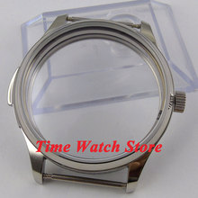 Fit ETA 6497 6498 movement parnis 44mm Polished stainless steel watch case C37