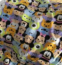 100*160cm toy shop Minnie Mickey tsum tsum elasticity Lycra knitted cotton fabric For Sewing diy Patchwork boy clothes jacket(China)