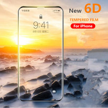 Buy New 6D Full Cover Edge Tempered Glass iPhone X 7 8 6 Plus Screen Protector iPhone X 6 6s 7 Plus Film Protection Glass for $1.92 in AliExpress store