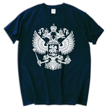 EAGLE FOR RUSSIA short sleeve T-shirt Cotton Men T shirt New(China)