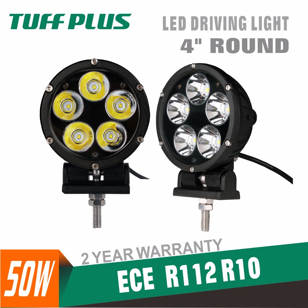 4INCH Round 50W Black Spot  LED Driving Light Bottom Mount Bracket for Jeep,Truck<br>