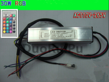 30w RGB LED Driver for Down light/underwater light waterproof IP67 AC110-265V  300mA Free shipping