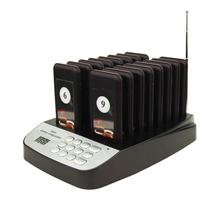 Wireless Calling System for restaurants 16 pcs of pagers and 1 keyboard transmitter wreless paging systems in 433mhz 999 channel(China)