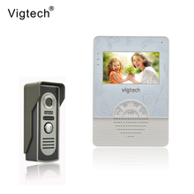 Vigtech Home Wired Cheap 4.3' inch LCD Color Video Door Phone DoorBell Intercom System IR Night vision Camera FREE SHIPPING(China)
