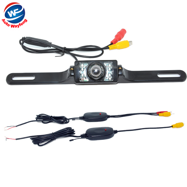 2.4G Wireless Car Backup Reverse Rear View Camera Parking system kit night vision For Car DVD Monitor(China)
