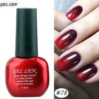 Gel Len Nail Gel Polish Long lasting UV Gel Soak off LED UV Gel Lacquer 7.5 mlTemperature Color Changing Nail Gel