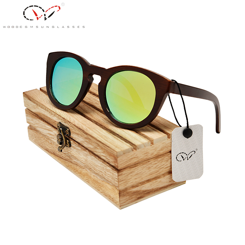 HU WOOD Brand Design Children Sunglasses Multicolor Frame