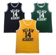 Retro Basketball Jersey Will Smith the Fresh Prince Basketball Shirts 14# 25# Yellow Black Green Hip Hop Cheap Throwback Jersey(China)