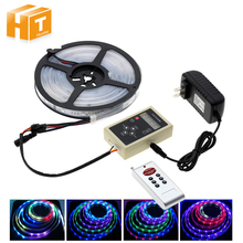 6803 IC Dream Color RGB LED Strip 5050 30LED/m IP67 Waterproof 5M + 133 Program RF Magic Controller + Adapter(China)