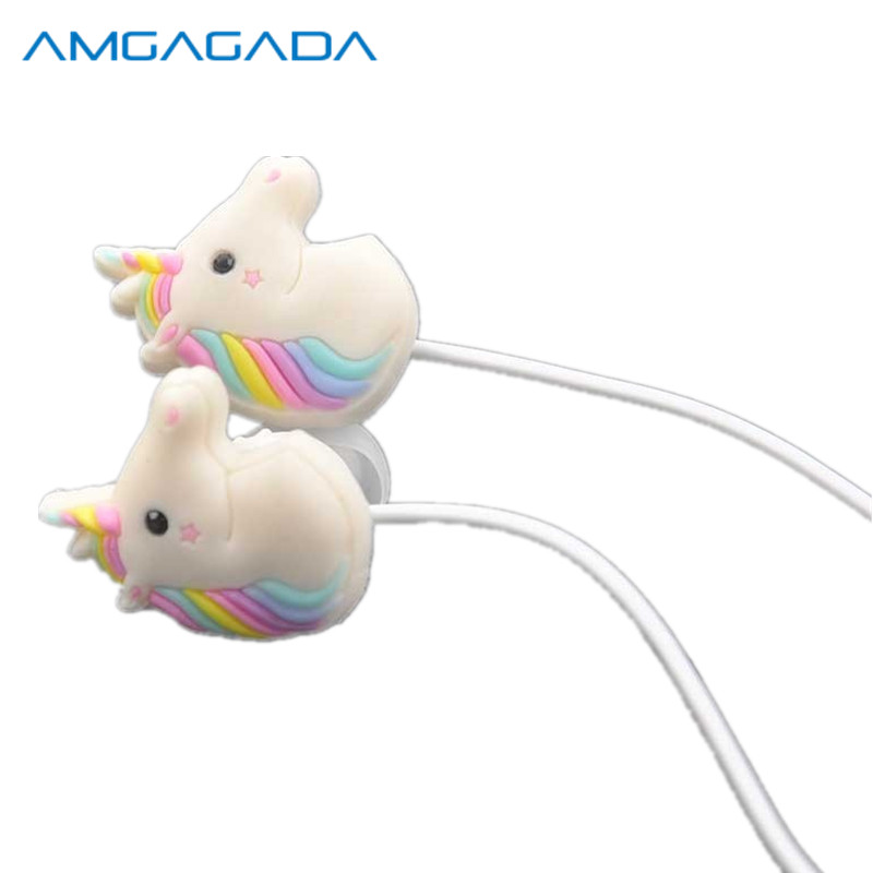 10pcs/lot Mini Portable Cute Girl In Ear Earphone With Microphone Lovely Special Unicorns Rainbow Horse Earphone For Phone PC<br><br>Aliexpress