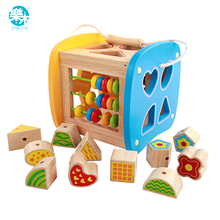 Baby wooden toys Models & Building Toy Wooden Multi Shape Sorter Block early Educational for Kids Gift juguetes brinquedos(China)