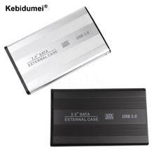 Kebidumei Super Speed 2.5 Inch HDD Case Sata to USB 3.0 Hard Drive Disk SATA External Storage HDD Enclosure Box with USB Cable(China)