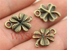 WYSIWYG 20pcs 17mm antique bronze plated clover charms
