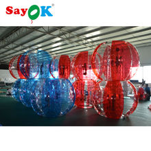 1.8m (6ft) PVC free shipping red / blue bubble soccer football, giant human hamster ball, inflatable bubble bumper ball for sale(China)
