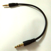 Short 20cm Black 3.5mm jack to jack Aux Cable male to male stereo Audio Cable for mobile phone audio line