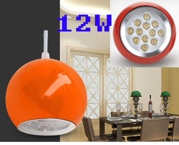 AC90-260V 12W Colorful Body  Morden Hanging Led Lamp Dining Room Free Shipping<br>