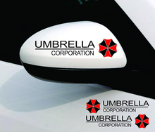 1 pair Resident Evil Logo Universal Car Rearview Mirror Stickers Umbrella Corporation Sticker Car-Styling Waterproof on Car(China)