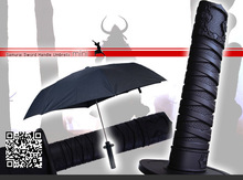 Free shipping high-quality Japanese Ninja Samurai Katana sword umbrella, knife folding automatic black sun parasol novelty items