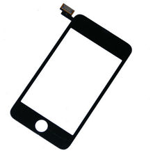 Black Front Top Glass LCD Touch Screen Digitizer With/No Frame Replacement For iPod Touch 2 2nd Gen