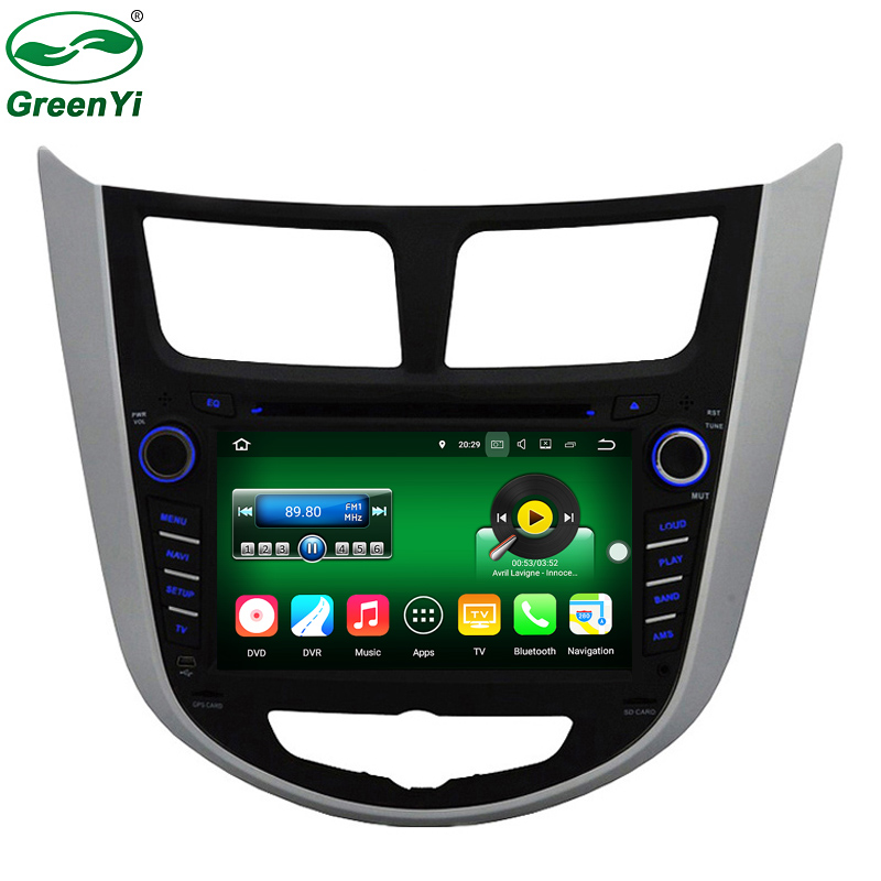 New 2GB RAM Android 7.1 Tablet PC Car DVD Player For Hyundai Accent Solaris Verna 2011-2014 GPS Navi Audio Radio Video(China (Mainland))
