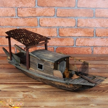 Original Handmade Wooden Sailboat Ornaments Do The Old Wooden Fishing Boat Model Boat Sailing Craft Wuzhen Jiangnan Features