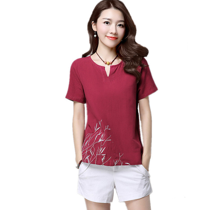Summer Short Sleeve Women T Shirt Harajuku Vintage Clothes Casual Blusa Tops Tee Body Embroidery Pullover Loose T-Shirt Clothing