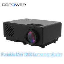 DBPOWER LCD Portable Mini Projector with 1200 Lumens LED Digital Video Beamer Full HD TV Home Theater Cinema Data Show Proyector