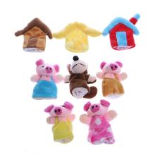 2017 Baby Three Little Pigs Finger Puppets Kids Educational Hand Toy Story Toys MAR2_30