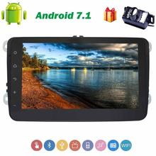 Android 7.1 Car Stereo Radio Receiver In Dash for Volkswagen 4-Core car accessories 8'' touch panel head unit GPS+Backup Camera(China)