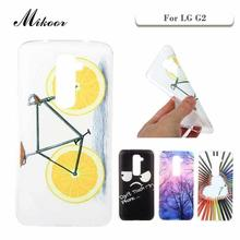 Mikoor Fashion Painted TPU Silicone Soft 5.2For LG G2 D802 Case For LG G2 D801 F320 LS980 Cell Phone Case Cover M01