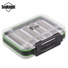 SeaKnight MAXWAY Fishing Lure Box 126*94*45mm Double Face Visible Plastic Waterproof Box Fishing Tackle Box for Fly Lure & Hooks(China)