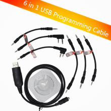 6 in 1 USB Programming Cable For YAESU BAOFENG BF-888S UV-5R For KENWOOD PUXING For Motorola For ICOM Radio Walkie Talkie