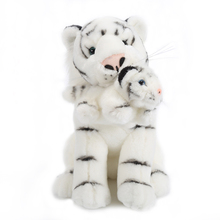 "New Style Plush Doll Emulational Animal Stuffed Toy White Mother Tiger with Baby Best Gift for Kid Boy Birthday Gift 6*11""(China)"