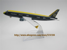 16cm Metal Air Malaysia NAZA LOTUS A320 Airlines Airbus 320 A320 Airways Plane Model Airplane Model w Stand Aircraft(China)
