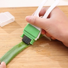 Stainless Steel Onion Vegetable Cutter Slicer Scallion Chopper Shredder Green Spring Cutter Easy Kitchen Gadget Cooking Tools(China)