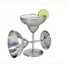 Stainless Steel Cocktail Wine Cup Fashion Martini Cup Creative Wine Glass Margarita Goblet Glass Anti-broken Drinkware Bar Tools(China)