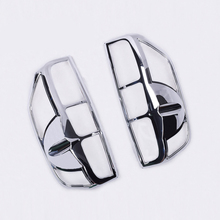 Car chrome navara 2007 accessories tail light cover lamp trim for frontier navara d40 2007 car styling plate part